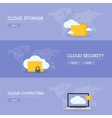 Cloud coputing storage service and security banner vector image vector image