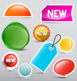 Colorful Tags Set Glossy Abstract Labels Icons for vector image vector image