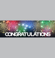 congratulation greeting banner with firework vector image