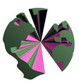 creative planet vector image vector image