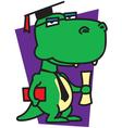 Dinosaur Graduation vector image vector image