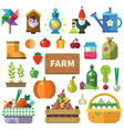 Farm in the village vector image vector image