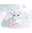 Fluffy on snow vector image vector image