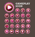 gaming interface button set vector image
