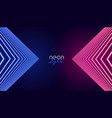 geometric neon lights abstract background vector image