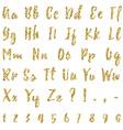 Gold alphabet isolated on white background vector image