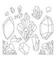 graphic pastel crystals vector image vector image