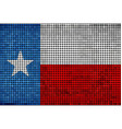 grunge mosaic flag of texas vector image