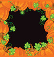 halloween background frame vector image vector image