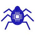 hardware bug icon grunge watermark vector image