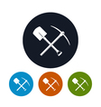 Icon Shovel and Pickaxe vector image vector image