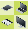 Isometric gadgets vector image vector image