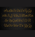 latin gold alphabet script effect is golden vector image