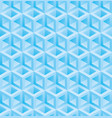 light blue cubes isometric seamless pattern vector image vector image