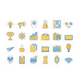linear color icon set 2 - business vector image