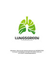 lung care logo designs nature lungs logo concept vector image