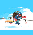 man alpinist character vector image