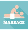 massage icon vector image vector image