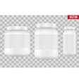 Mock-up Background of Sport Nutrition Container vector image vector image