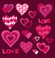 mod valentines vector image vector image
