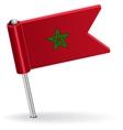 Moroccan pin icon flag vector image vector image