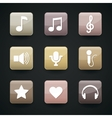 Music icons for app vector image vector image