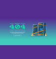 page not found 404 error concept banner vector image