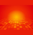 perspective red orange background with squares vector image
