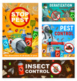 pest control posters disinsection service vector image vector image
