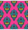 Pink floral damask design vector image vector image