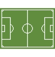 pixel art style football sport field soccer vector image vector image