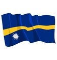 political waving flag of nauru vector image vector image