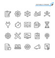 product management line icons vector image vector image