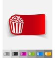 realistic design element pop corn vector image