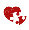 red puzzle heart vector image vector image