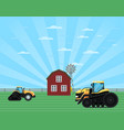 rural agribusiness concept with tractor vector image vector image