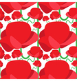 Seamless pattern of abstract poppy vector image vector image