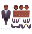 set for character speaks animations vector image vector image