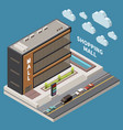 shopping mall concept vector image vector image