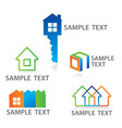 sign cottage construc vector image vector image