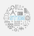 stem round modern in outline vector image vector image