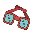 sunglasses accesory isolated icon vector image vector image