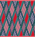 tartan seamless rhombus texture red and blue vector image