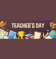 teachers day background cartoon template for vector image vector image