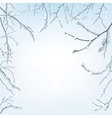 The branches of the snow vector image vector image
