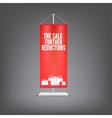 The sale further reductions Vertical red flag at vector image vector image