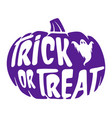 trick or treat halloween pumpkin graphic vector image