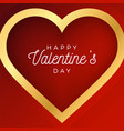 valentine day abstract background with red vector image vector image