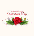valentine day rose flower candy pattern vector image vector image