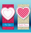 valentine day two vertical banner vector image